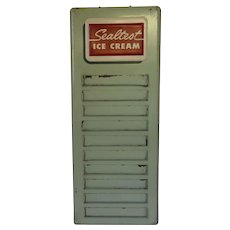 Vintage Sealtest Ice Cream Flavor Menu Sign