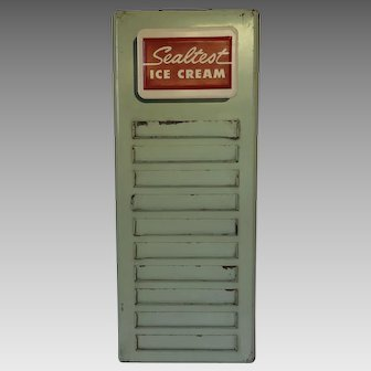 Vintage Sealtest Ice Cream Flavor Menu Sign