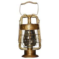 Original Dietz King Fire Dept Brass Kerosene Firehouse Lantern