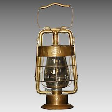 Original Dietz King Fire Dept Brass Kerosene Firehouse Lantern