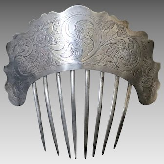 Early American Coin Silver Hair Comb