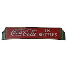 Hand Made and Painted Wooden Art Deco Style Coca Cola Sign