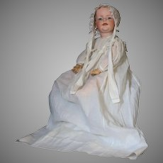 """Kley and Hahn 22"""" German Bisque Character Toddler, Mold 548  with Painted Hair circa 1912"""