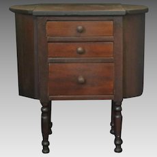 Child's Martha Washington Wooden Sewing Cabinet