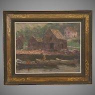 Framed Oil on Board Landscape by Morris Hall Pancoast (1877-1963)