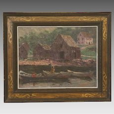 Framed Oil on Board Landscape by Morris Hall Pancoast (1877-1963)