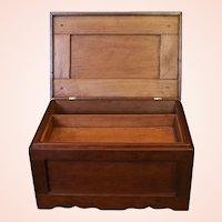 Antique Cherry Wood Document Box with Interior Tray