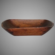 19th Century Hand Hewn Wood Trencher or Dough Bowl