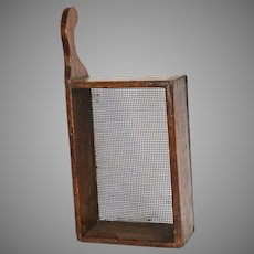 19th Century Hand Made Square Wooden Sieve Sifter