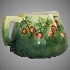 Antique Ceramic Art Company Hand Painted and Artist Signed Lemonade Pitcher
