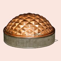 19th Century Tin Lined English Copper Pineapple Culinary Mould