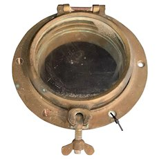 Salvaged Solid Brass Porthole