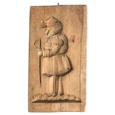 Civil War Era Carved Wood Folk Art Mold