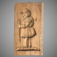 Civil War Era Carved Wood Folk Art Mold