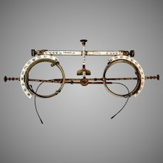 Patented 1894 Optometry Exam Glasses by American Optical Company