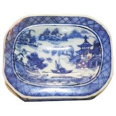 19th Century Chinese Export Porcelain Master Salt
