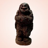 Franz Zelezny Hand Carved Sculpture of Peasant Man (Ode to Joy) Circa 1915