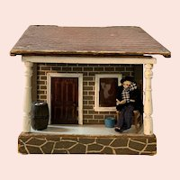 A. Schoenhut Bungalow Dollhouse with Furnishings
