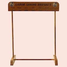 Mid-Century Kellogg Brush Manufacturing Co. Two-Sided Point of Purchase Display