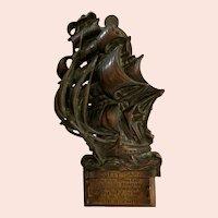 Cutty Sark Clipper Ship Cast Brass 3D Door Knocker