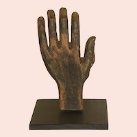 Folk Carved and Painted Wooden Hand