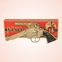J & E Stevens Peacemaker Cast Iron Cap Gun with Original Box