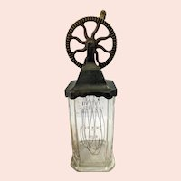 Antique Silvers Brooklyn Cast Iron and Glass Egg Beater \ Mixer