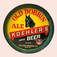 The Erie Brewing Co.: Old Dobbin Ale: Koehler's Erie Beer: Advertising Beer Tray