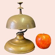 Antique Brass Hotel Desk Bell from Three Rivers Hotel