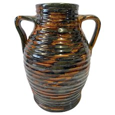 Fulper Pottery Company Ribbed Colonial Ware Vase