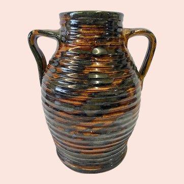 Fulper Pottery Company Ribbed Colonial Ware Vase