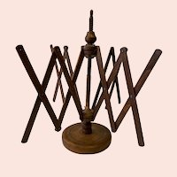 Antique Wooden Countertop Yarn Swift Umbrella Winder