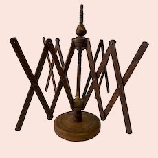 Antique Wooden Countertop Yarn Swift Umbrella Winder