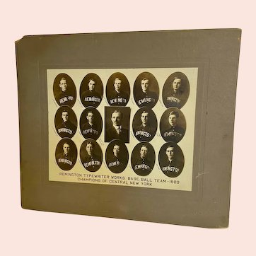 1909 Photograph of the Remington Typewriter Works Baseball Team