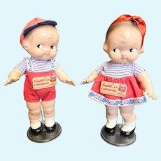 Vintage Pair of Original E.I. Horsman Campbell Kids Dolls