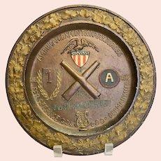 World War I A.E.F. Commemorative Service Plate