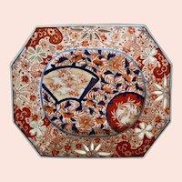 Antique Meiji Period Reticulated Octagonal Japanese Imari Platter