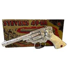 J. & E. Stevens Flash Chrome 49-ER Cap Gun With Original Box