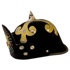 Independent Order of Odd Fellows Ceremonial Spiked Helmet
