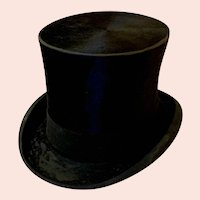 Antique Knox of New York Plush Glossy Silk Top Hat