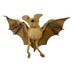 "Mid-Century Rare Small Steiff ""Eric"" The Bat Stuffed Animal"