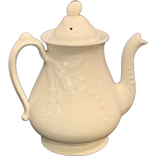 Ironstone Teapot With Blackberry and Lily of the Valley Decoration