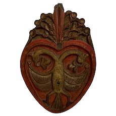 Carved and Painted Family Shield