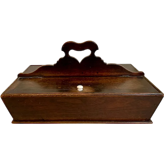 Antique Black Walnut Knife Box, circa 1850