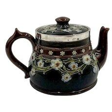 Antique Doulton Lambeth Arts and Crafts Stoneware Teapot