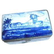 Delft Table Snuff  or trinket Box