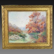 Early 20th Century Impressionist Landscape by Chicago Artist Jean Goodwin