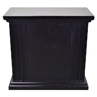 Rectangular Neoclassical Fluted Black Pedestal or Sculpture Stand
