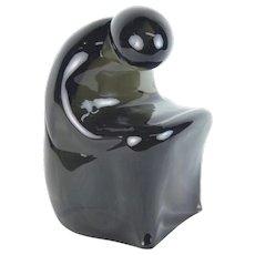 Elio Raffaeli Ars Murano Modern Italian Art Glass Sculpture Seated Figure