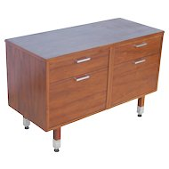Vintage Thonet Compact Mid-Century Danish Modern Style Office Credenza Sideboard